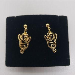 Winnie the Pooh goldtone post earrings